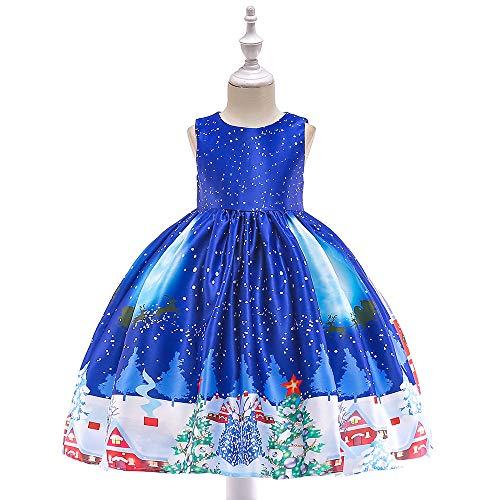 HHFF 2018 Kinder Kleider Weihnachten Kostüm Mädchen Print Overall Prinzessin Rock Christmas Show ()