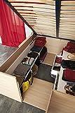 Pharao24 Designerbett mit viel Stauraum Eiche Dekor