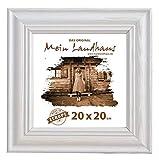 Mein Landhaus Vintage Bilder-Rahmen Stockholm im Shabby Chic Design | Holz-Rahmen in Weiß mit Glas (15x15 cm)