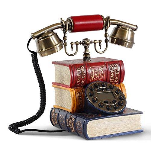 XWCPDM Dekoration Vintage Telefon Antikes Buch Nach Hause Wählscheibe Telefon Dekoration