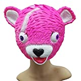 Malloom Spoof Mask Tricky Toys Cuddle Líder de Equipo Pink Bear Máscara de Juego Melting Face Adulto Traje de látex