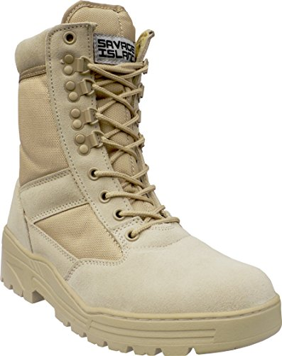 Desert Army Combat Patrol Boots Tactical Cadet Military Security Seude Leather Tan...