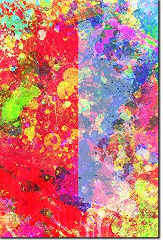 TPCK Darwin Fish Kunstdruck Colourburst Hochglanz Foto Poster Plakat - Charles Atheist Atheism Biology Biologist - Maße: 45 x 30 cm