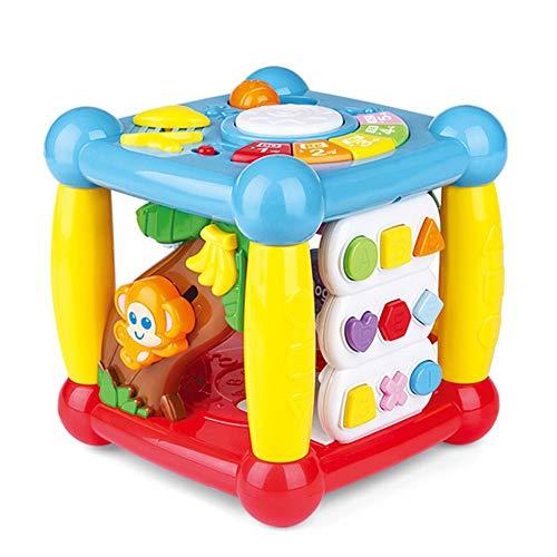 CX TECH Baby Kreatives Puzzle Spielzeug Baby Drehen und Lernen Cube Lernspielzeug für Kinder 3