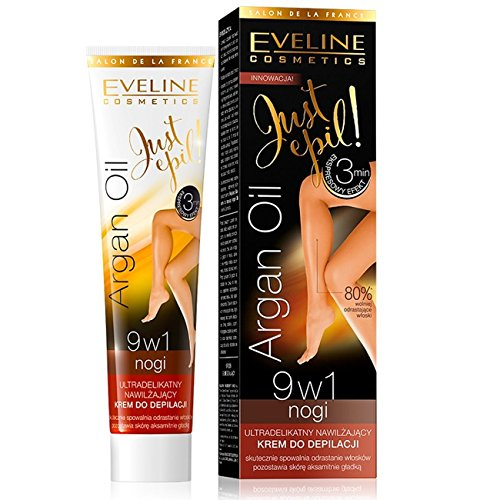 Eveline JustEpil Argan Oil 9in1 ULTRA sanfte feuchtigkeitsspend 9in1 CREAM ENTHAARENDE