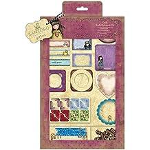 Santoro Vintage rosa craft Collection–Kit de adornos (81pcs)