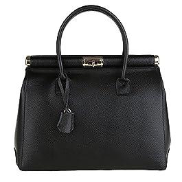 de01e3e91f Chicca Borse Handbag Borsa a Mano da Donna con Tracolla in Vera Pelle Made  in Italy ...