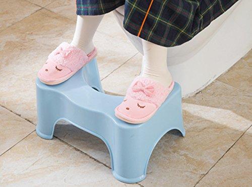 HYP-Ergonomische Toilettenhocker Toilettenhocker ErwachseneHilfs dicker Mini Pad Hocker Hocker Hocker ältere Kinder Rutschfeste Bad WC Hocker Hocker?Large - blue - [high 21cm]