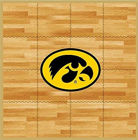 NCAA Iowa Hawkeyes Fan Floor, 8' x 8', Tan