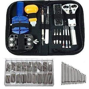 WINTER DONG Uhrmacher 390 Teile Werkzeuge und Uhrensets Werkzeuge Uhrmacher Profi Set Werkzeuge