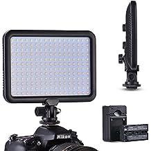 Tycka 204 LED Luz de Video Studio Iluminación, 3200K - 5600K temperatura de color, con la battery de 2200mah y cargador, regulable continuo de 1300lm, Ultra Fino y ligero, Fotografía de niños, para cámara videocámara DSLR Canon Nikon Sony