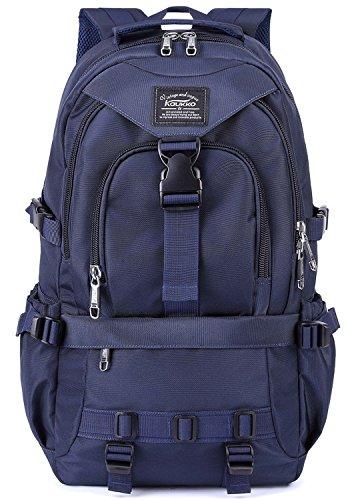 KAUKKO Multifunktionale Wandern Reise Rucksack Laptop Schulranzen Rucksäcke (up to 15.6 inches)-Blau (Satchel Blaue)