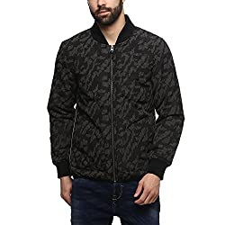 United Colors of Benetton Mens Synthetic Jacket (17A2FSIC2050I_Black_M)