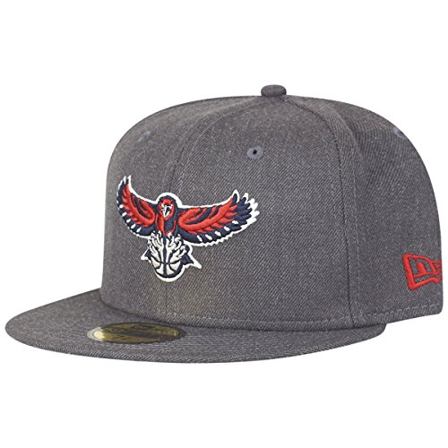 New Era NBA Heather 59Fifty Cap ATLANTA HAWKS Grau, Size:7 1/4 (Brown Cap Fitted)