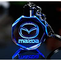 Keychain Keyring Mazda Car Logo with changing color light