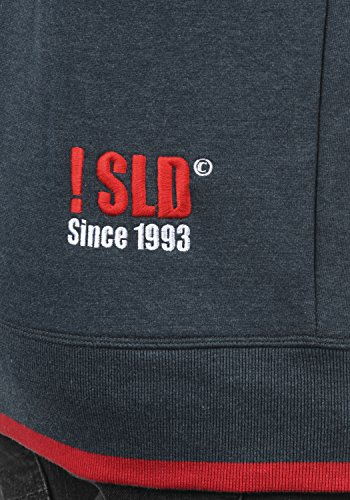 SOLID BenjaminHood Herren Kapuzenpullover Hoodie Sweatshirt mit optionalem Teddy-Futter aus hochwertiger Baumwollmischung Meliert Insignia Blue mit Teddy-Futter