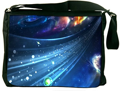 Snoogg Stars In Galaxy Padded Compartment Carrying Case Sleeve Laptop Notebook Shoulder Messenger Bag For All 15 - 15.6