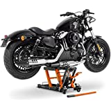 ConStands - Motorrad-Hebebühne Harley Davidson Street Glide (FLHX), Street-Rod (VRSCR), V-Rod/Muscle (VRSCF)/(VRSCA/W), XR 1200/ X (XR-1200 X)/(XR-1200) Hydraulisch Sicherung