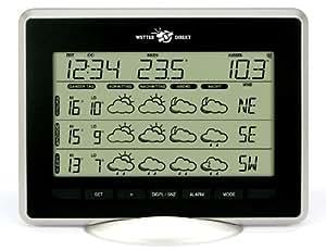 Wetterladen Funk Wetterstation Sirius 300 Plus, Schwarz, 222 x 163 mm