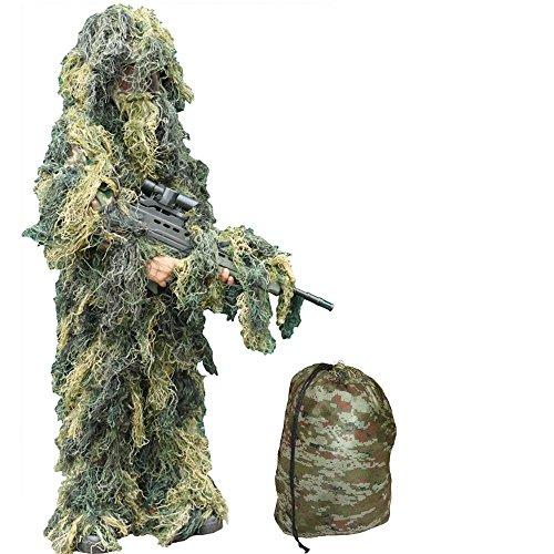 Kinder Camo Ghillie Suit Alter 3 - 7 Jahre - Kinder Armee-Tarnung Sniper Anzug (S / Medium 3-7 Jahre )