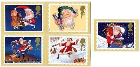 Weihnachten 1997Karten mit Briefmarkenmotiven 193Full-Set