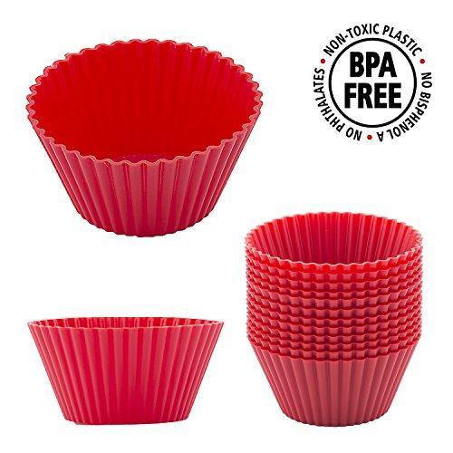 Silikon-Muffin-Förmchen, 7cm, 12er-Pack passion-red Basic Set