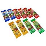 FRUTINA - Kit da 10 Barrette alla Frutta Assortite - Mela e Fragola, Mela e Bacche Selvatiche, Mela e Albicocca, Mela e Lampone - Prodotto Australiano - 10 x 15 gr