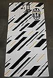 Juventus 8934 272 2130 Telo Mare in Spugna, 100% Cotone, Bianco/Nero, 140 x 70 x 1 cm immagine