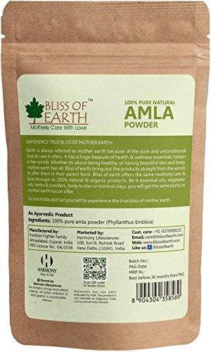 Bliss of Earth 100% Pure Natural Amla Powde, 100g