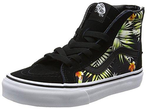 Vans Jungen Uy Sk8-Hi Zip Hohe Sneakers Schwarz (Decay Palms)