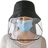 SHANGLY Esterno Anti-Saliva Cappello Protettivo Sicurezza Viso Shields Antinebbia Antivento Antipolvere Cappello da Pescatore Cappello da Baseball,A