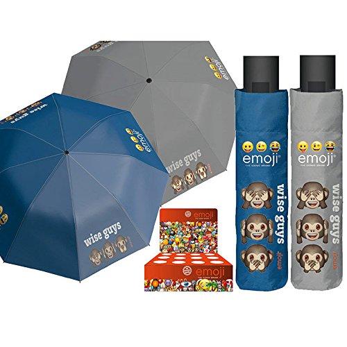 PERLETTI perletti7505454x 8cm Mini 3secciones Impreso Emoji paraguas a prueba de viento...