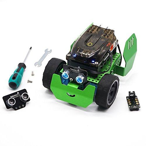 robobloq Robot Building Kit Line-Anhänger–q-scout Robotics für Kinder Vorbau Bildung–Arduino Codierung & grafische Programmierung–Metall Blocks Spielzeug, Geschenke für junge oder Mädchen Alter 6+