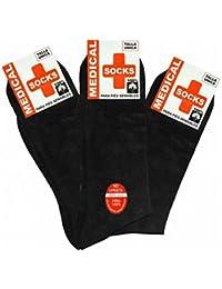 MEDICAL SOCKS - Pack 12 pares de Calcetines Hilo de Algodón 100% Algodón ECONÓMICOS color