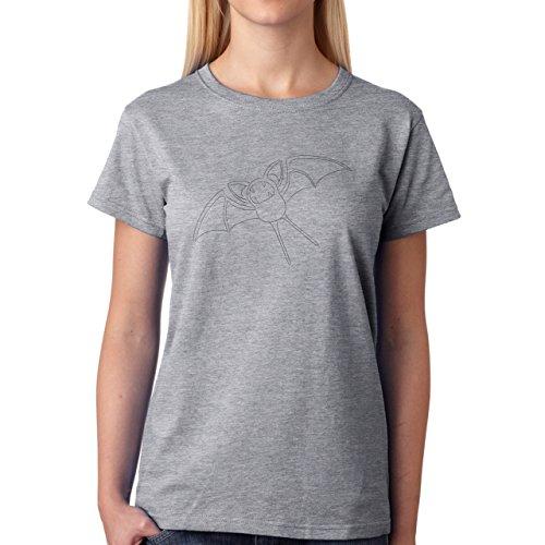 Pokemon Zubat Bat Poisonl Sketch Damen T-Shirt Grau