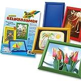 Folia Bilderrahmen Bastelset Fotokarton, 25 Stück in 5 Farben