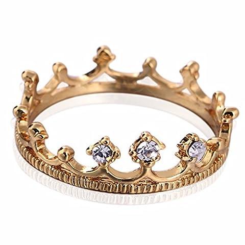 QIYUN.Z Femmes De Mode De Cuivre En Or Blanc Couronne Plaquee Plein Cristal Bijoux Cadeau