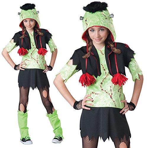 n Teen Monster Motiv Gurl Teen Frankenstein Halloween Kostüm (Schwarze Halloween-kostüme Für Tweens)