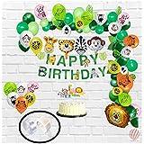 HK balloonsJungle Animal Hawaiian Themed Birthday Party Decorations set for Boys & Girls - Pack of 124Pcs