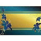 Vlies Fototapete PREMIUM PLUS Wand Foto Tapete Wand Bild Vliestapete - Abstrakt Ornamente Blumen Blüten - no. 572, Größe:350x245cm Vlies