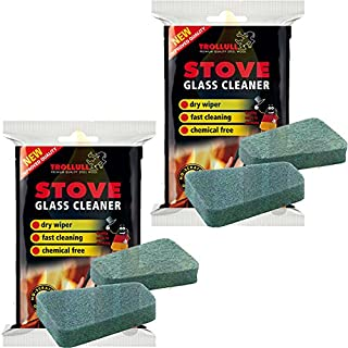 Trollull X2 Cleaner Pads For Stove Glass 2 In A Pack Rakso Stove Glass Cleaner 4 Pads In Total