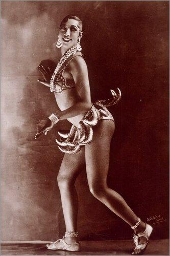 Baker Kostüm Josephine - Poster 100 x 150 cm: Josephine Baker von Granger Collection - hochwertiger Kunstdruck, neues Kunstposter
