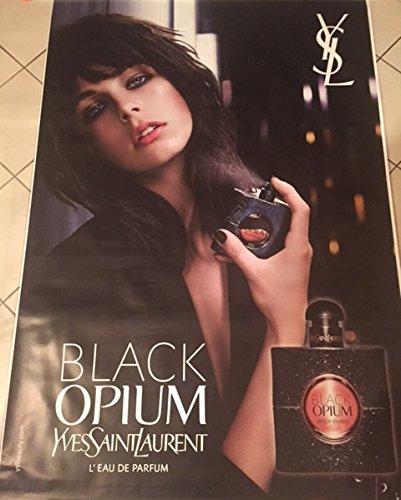 AFFICHE - Yves Saint-Laurent  Black Opium - Parfum - Edie Campbell - Abribus - 120x175 cm - AFFICHE / POSTER
