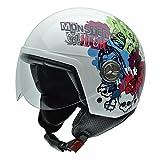 NZI 050278G673 Zeta Monster High Fierce, Motorradhelm, Größe L, 58