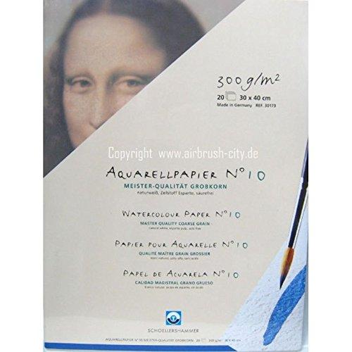 Schoellershammer Aquarellblock 30 x 40 cm Grobkorn N°10