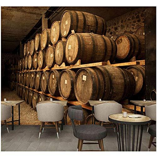 Wandbild Europa Vintage Wall Paper 3D Weinkeller Barrel Fototapete Wandaufkleber Bar Home Decor Vinyl/Seide Tapete -