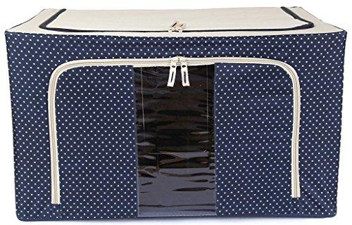 Stytleys Foldable Cloth Storage Box with Steel Frames Underwear, Socks, Accessories Organizer - NAVY BLUE 66 Ltr