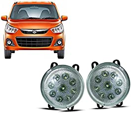 Auto Pearl 9 LED Fog Lamp Assembly for Maruti Suzuki Alto K10 (Set of 2)