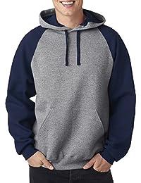 Jerzees 8Oz, 50/50NuBlend Colorblock Raglan Pullover Kapuze Sweatshirt