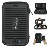 sisma Bolsa De Viaje para Electrónica y Accesorios, Estuche Organizador para PowerBank Cable Cargador Tarjetas Memoria Auricular, Negro SCB16128S-WB-B